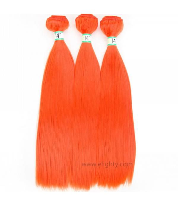 Fiber Hair Silk Straight Hair Synthetic Hair Exten...