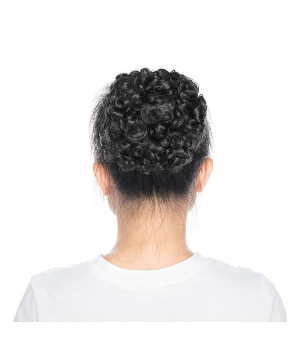 Hairpiece Hair Rubber Scrunchie Updos VOLUMINOUS Curly Messy Bun Light brown mix