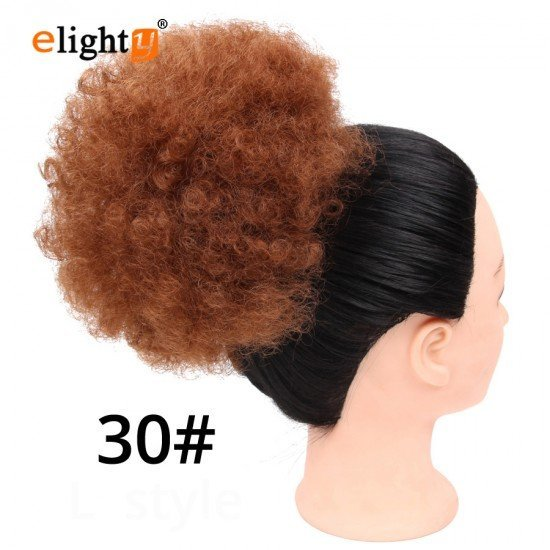 Synthetic Curly Messy Bun Hair Hairpiece
