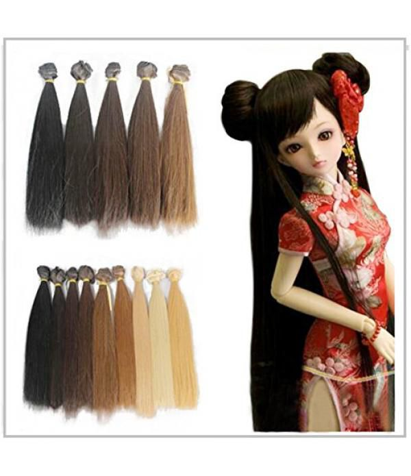 5pcs/lot 25cm Long Straight Synthetic Handcraft Ha...