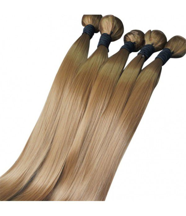"24"" Synthetic Fiber Silk Straight Hair Weft Bundles Extension for Women (27#)"