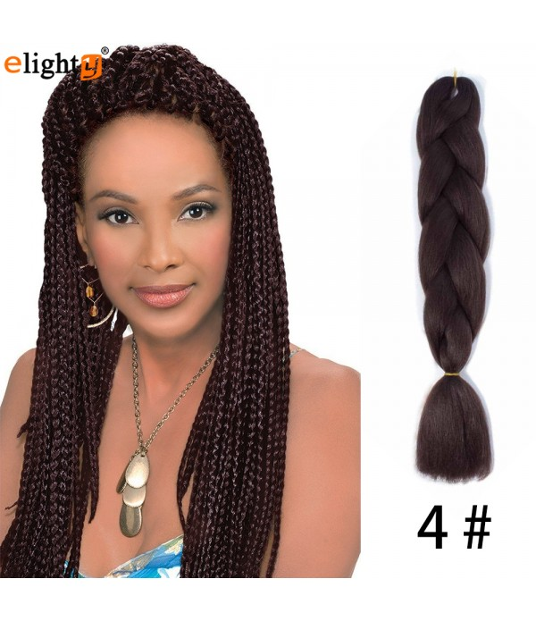 5Pcs/Lot 24 inch Jumbo Box Braids Kanekalon Synthetic Braids African Xpression Braiding Hair Extension