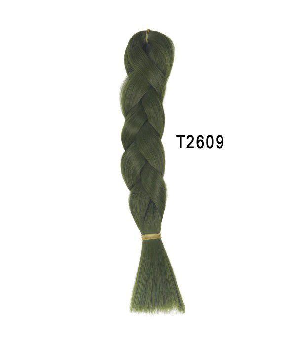 Unisex 24inch 60cm 100g Synthetic Long Straight Braided Bulk Hair Weave Weft DIY Doll Hair Raw Material