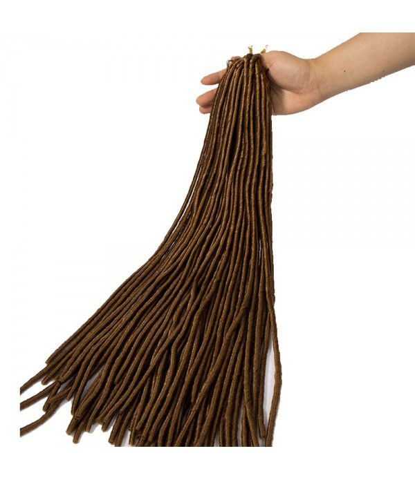 24 inch 3packs/lot Crochet Braids Faux locs Kanekalon Braiding Hair Afro Kinky Expression Hair Medium Brown