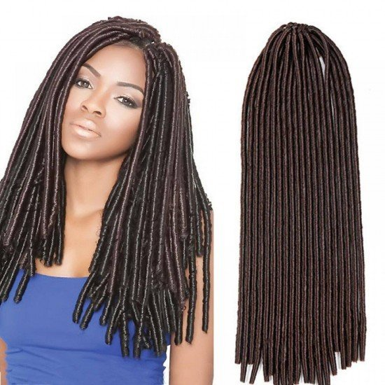5 packs Crochet Faux locs Straight Hair