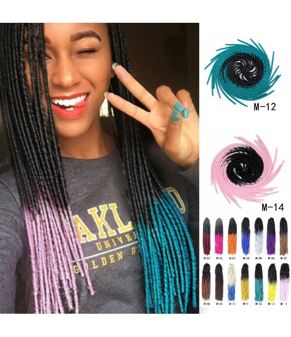 20 inch 5 packs/lot Omber Faux Locs Crochet Kaneka...