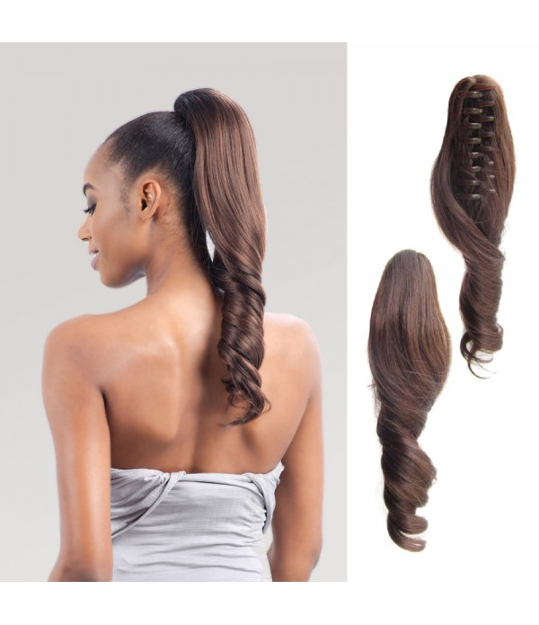 16 Inch Synthetic Hair Pieces Wavy Claw Clip Hair ...