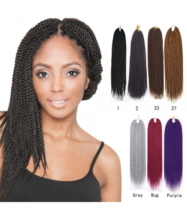 3 Packs Pure Color Jumbo Senegalese Twist Box Braids Havana Mambo Crochet Braiding Hair Extensions