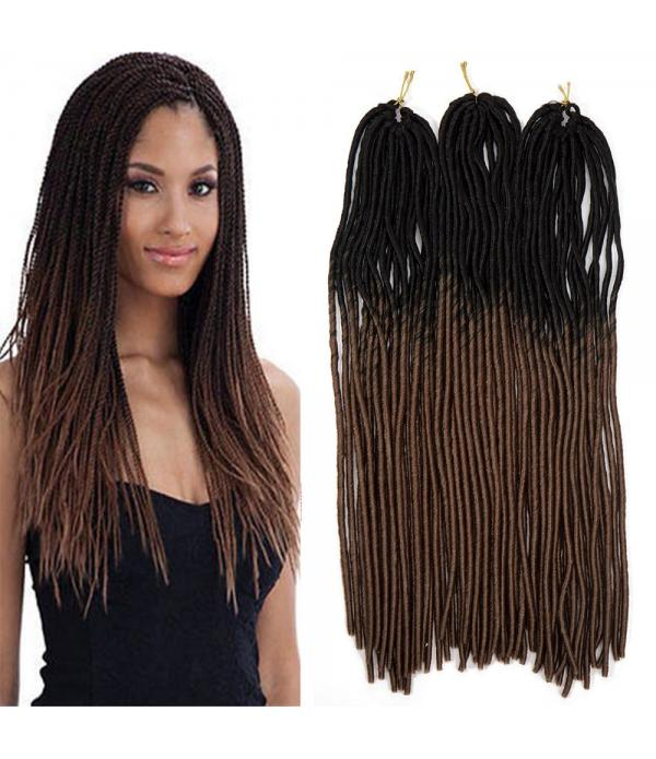 3 packs/lots 20 inch Synthetic Extensions Ombre Tw...