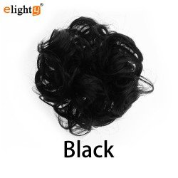Human Hair Bun Messy Chignons Hair