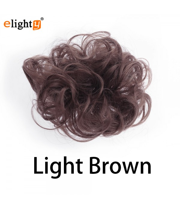 Human Hair Bun Wavy Curly Messy Hair Extensions Chignons Hair Piece Wig Comfort Fit Hairpiece