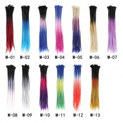 22 Inch Multi Color Dreadlocks Extensions