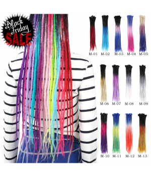 22 Inch 3 Tone Ombre Color Crochet Dreads Dreadlocks Extensions Twist Braiding Hair