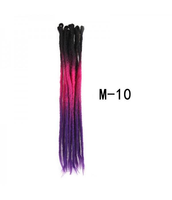 22 Inch 3 Tone Ombre Color Crochet Dreads Dreadlocks Extensions Twist Braiding Hair