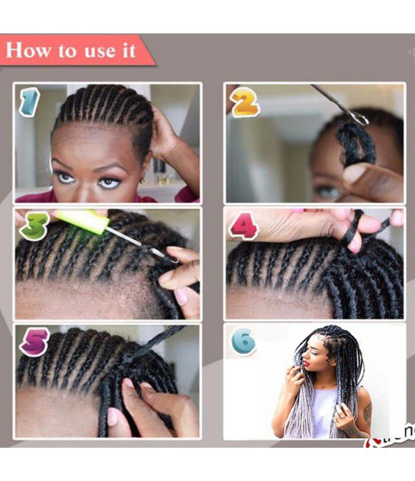 3 packs/lot Braiding Hair Faux locs Crochet Hair Fiber Braiding Hair Afro Kinky (Black to Sky Blue)