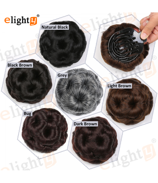 Synthetic Hair Accessories  Nine Flowers Chignon H...
