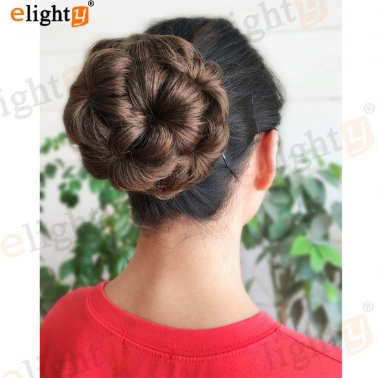 Nine Flowers Chignon Synthetic Hair Accessories