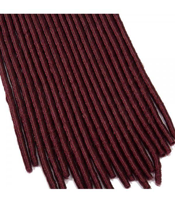 "3packs/lot Many Colors 24"" Braids Synthetic Full Head Hair Extensions Fauxlocs Kanekalon Fiber Braiding Hair Afro Kinky Soft Dreadlocks(Black to Wine Red)"