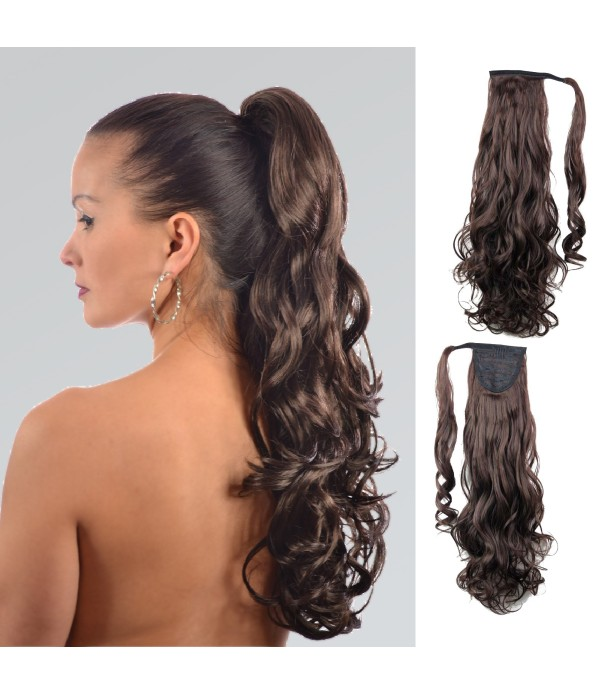 20 Inch Fashion Drawstring Ponytail Clip in Hair E...