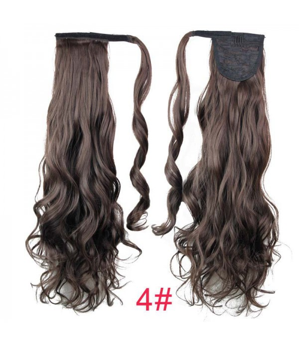 20 Inch Fashion Drawstring Ponytail Clip in Hair Extensions Pony Tail Long Wavy Curly Silky For Women