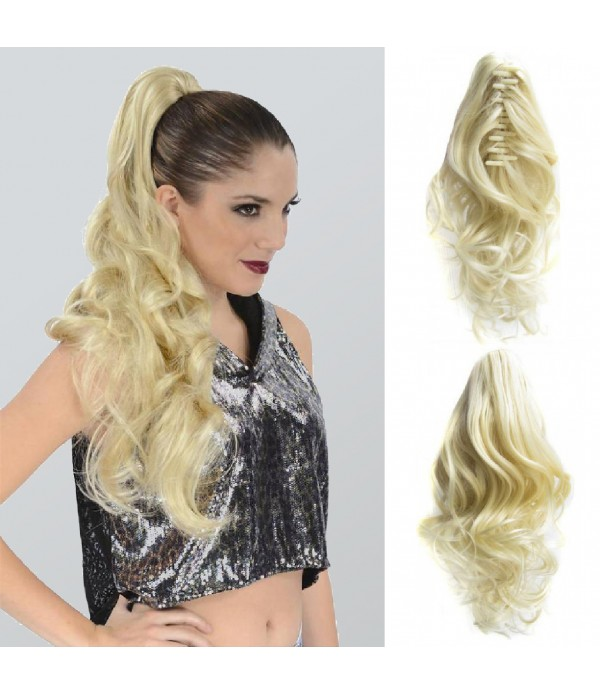 16 Inch Curly Drawstring Ponytail Synthetic Hair E...