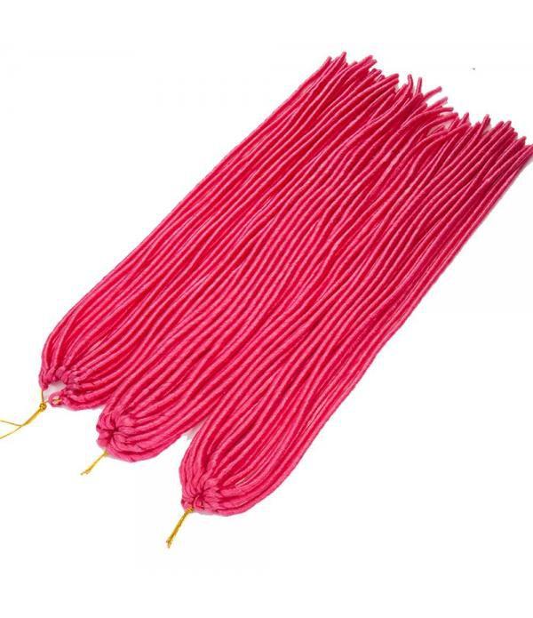 "3packs/lot Many Colors 24"" Braids Synthetic Full Head Hair Extensions Fauxlocs Kanekalon Fiber Braiding Hair Afro Kinky Soft Dreadlocks(Light Red)"