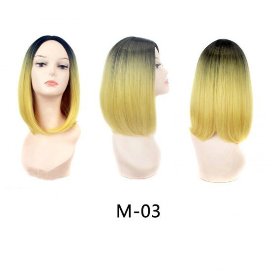 14 Inch Ombre Synthetic Wigs