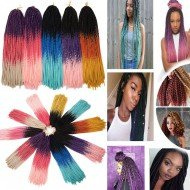 5 packs Colorful Faux Locs Crochet Straight Hair