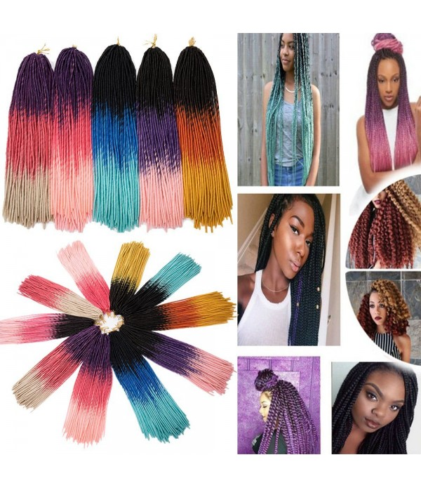 5 Packs 20 Inch Crochet Faux Locs Crochet Goddess ...