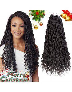 Curly Faux Locs Crochet Hair Deep Wave Braiding Ha...