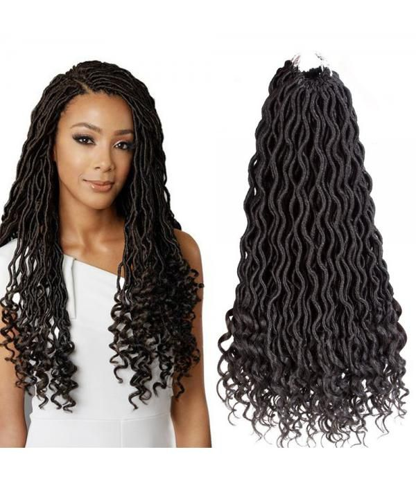 Faux Locs Curly Ends Deep Wave Crochet Curly Hair Kanekalon Braiding Hair Extensions