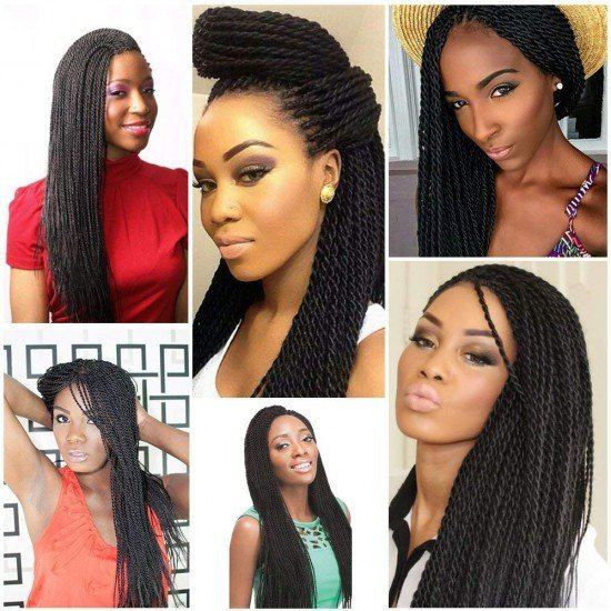 6 packs Colorful Senegalese Twist Crochet Box Braids Hair