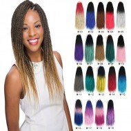 6 packs Colorful Box Braids Senegalese Twist Hair