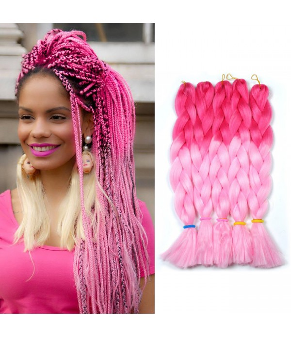 2 Tone Xpression braiding hair Synthetic Braiding ...