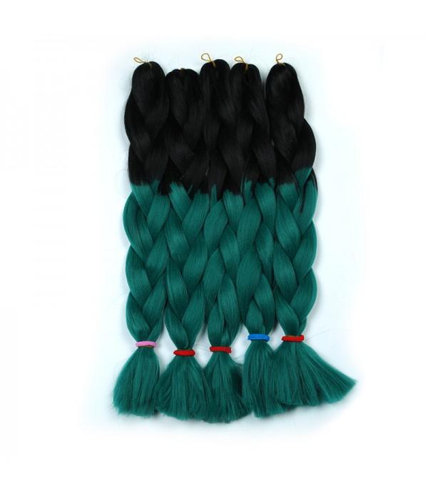 2 Tone Xpression braiding hair Synthetic Braiding Hair Extensions Kanekalon Twist Braiding Hair Extensions - Elighty Hair