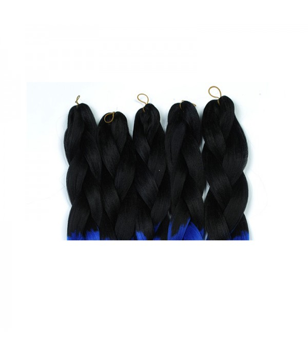 2 Tone Xpression braiding hair Synthetic Braiding Hair Extensions Kanekalon Twist Braiding Hair Extensions