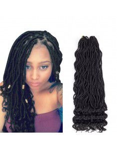 Goddess Faux Locs Curly Faux Locs Crochet Hair Wav...