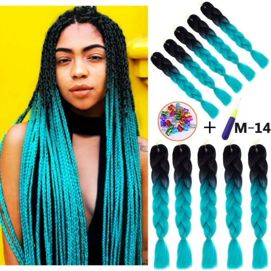 5 Packs Xpression Ombre Braiding Hair
