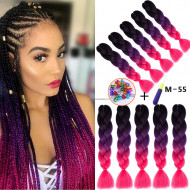 24 Inch Xpression Ombre Braiding Hair