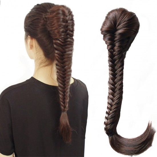 Long Fishtail Braid Ponytail Extension Hairpiece