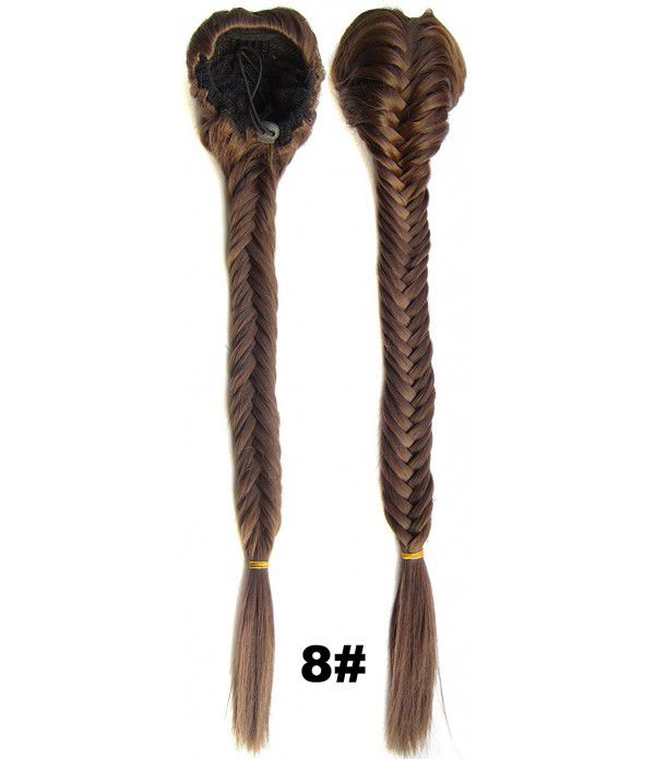 Cute Long Fishtail Braid Ponytail Extension fishbone braids Ponytail Hairpiece fishtail braided