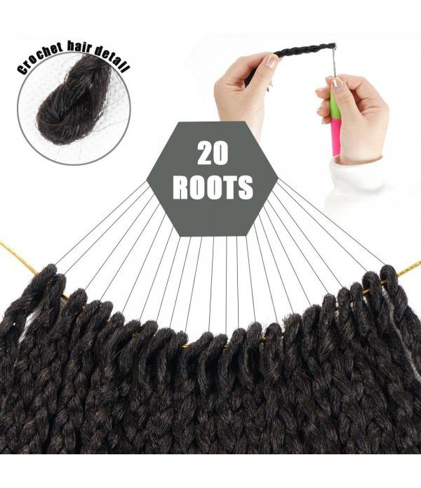Jumbo Box Braids | Kanekalon Braiding Hair | Goddess Locs Crochet Hair Black Brown (24inches,1B)