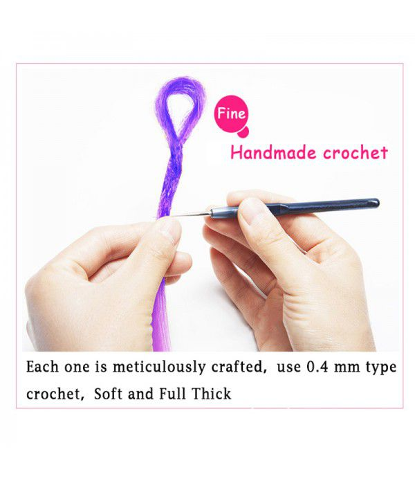 20 Inch Crochet Braids Dreadlocks Handmade Crochet Synthetic Hair Dreadlocks Extensions Twist Braiding Hair