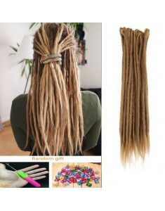Crochet Braids Hair Crochet Dreadlocks Handmade Crochet Synthetic Hair Dreadlocks Extensions Twist Braiding Hair 10 Strands 20""