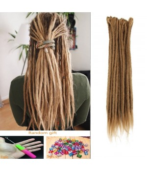 20 Inch Crochet Braids Dreadlocks Handmade Crochet Synthetic Hair Dreadlocks Extensions Twist Braiding Hair