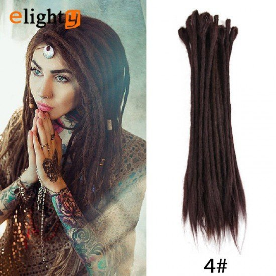 20 Inch Dreadlock Extensions Single Color