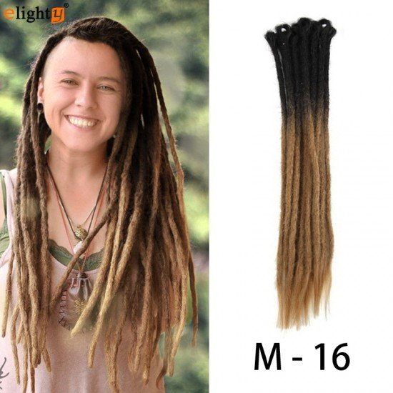 22 Inch Dreadlocks Extensions Ombre Color