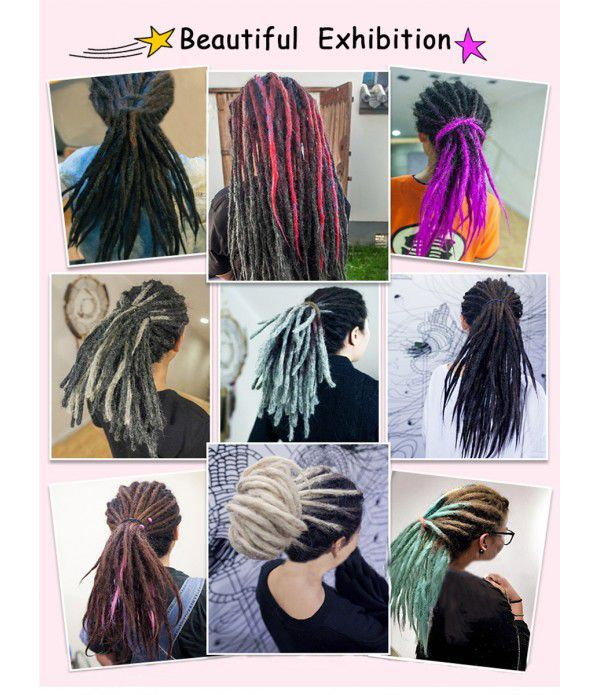 20 Inch Ombre Handmade Crochet Braids Dreadlocks Extensions Dread Twist Braiding Hair