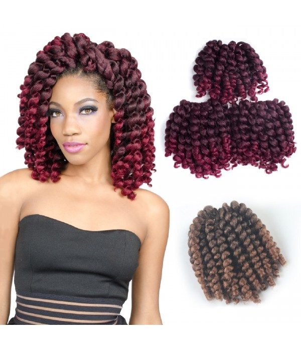 Jamaican Bounce Crochet Braids African Curly Wand Synthetic Twist Hair