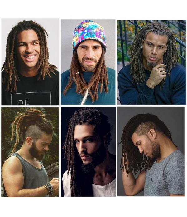 Dreadlock Extensions Crochet Braids Hair From Maya Culture For Men Fashion Reggae Hair Hip-Hop Style 10 Strands/Pack